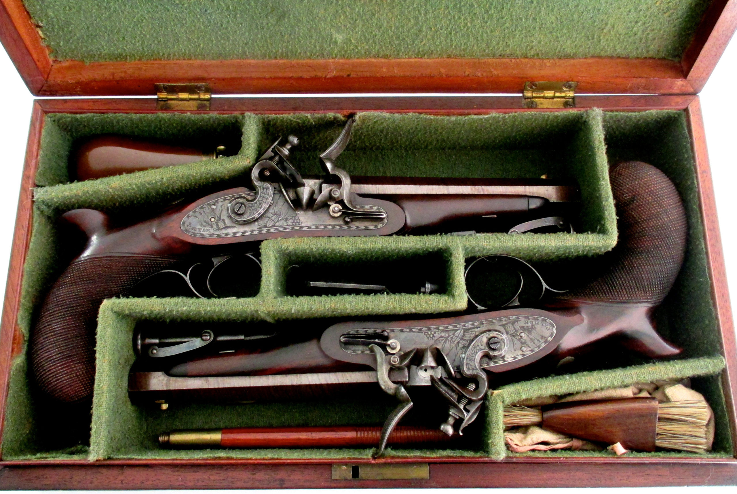 pair-flintlock-officers-pistols-Palmer-rochester-1820-gary-friedland-antique-arms-armor