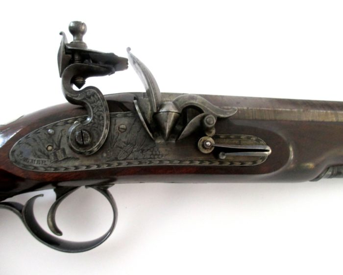 pair-flintlock-officers-pistols-Palmer-rochester-1820-gary-friedland-antique-arms-armor13