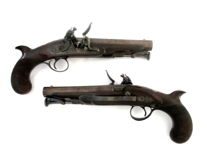 pair-flintlock-officers-pistols-Palmer-rochester-1820-gary-friedland-antique-arms-armor2