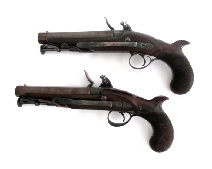 pair-flintlock-officers-pistols-Palmer-rochester-1820-gary-friedland-antique-arms-armor3
